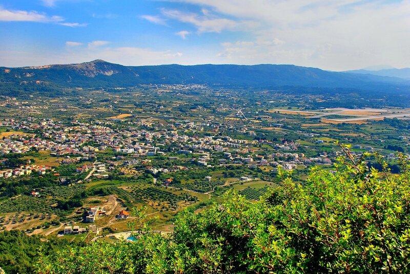 Панорама на о. Родос. Вид с филеримского холма