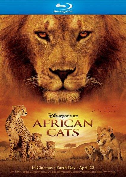 Африканские кошки: Королевство смелости / African Cats (2011) BD Remux + BDRip / 1080p + 720p + HDRip