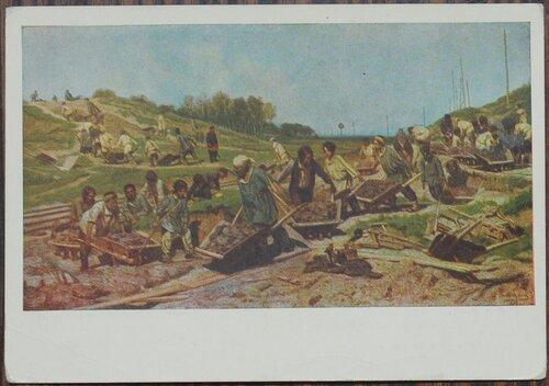 Ремонтные работы на железной дороге 1874 г.