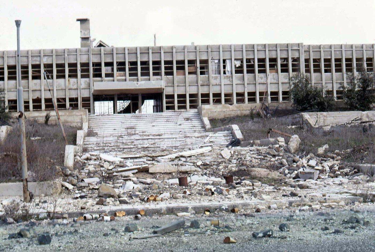 Разрушенный в Шестидневную войну Сирийский штаб