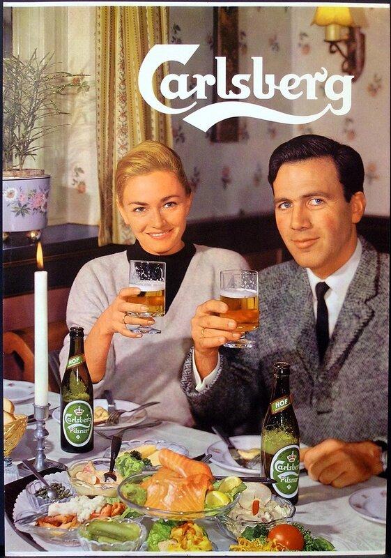 Уникальные винтажные постеры: реклама пива.