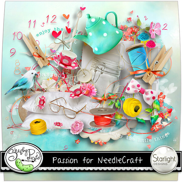 Скрап-набор Passion For Needle Craft