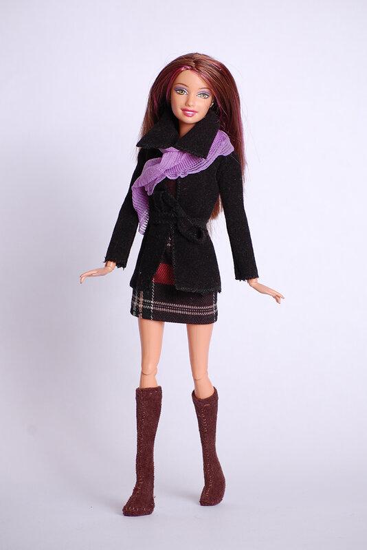 Выкройка платья для куклы своими