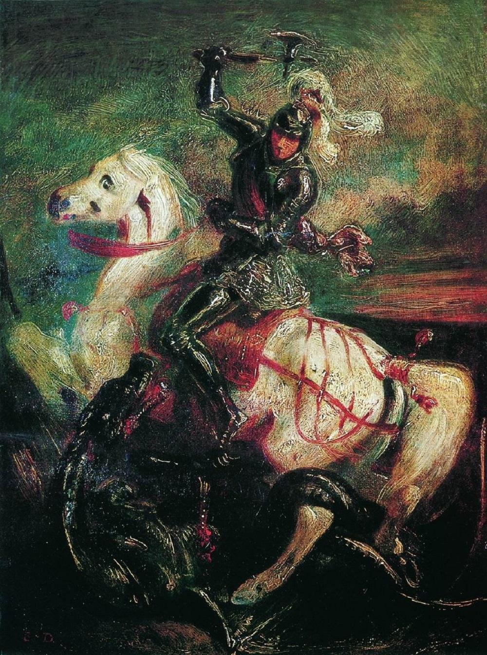 1850 Делакруа, Эжен (1798-1863) Святой Георгий и дракон.jpg