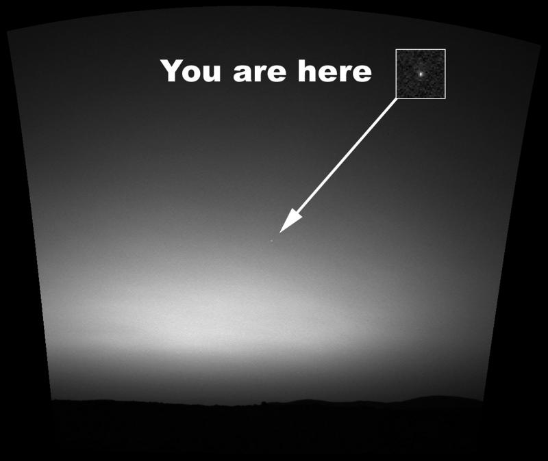18. Это первое изображение Земли с поверхности планеты, находящейся за пределами Луны. Оно было сдел