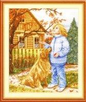Журнал Набор для вышивания НВ-348 Первый снег