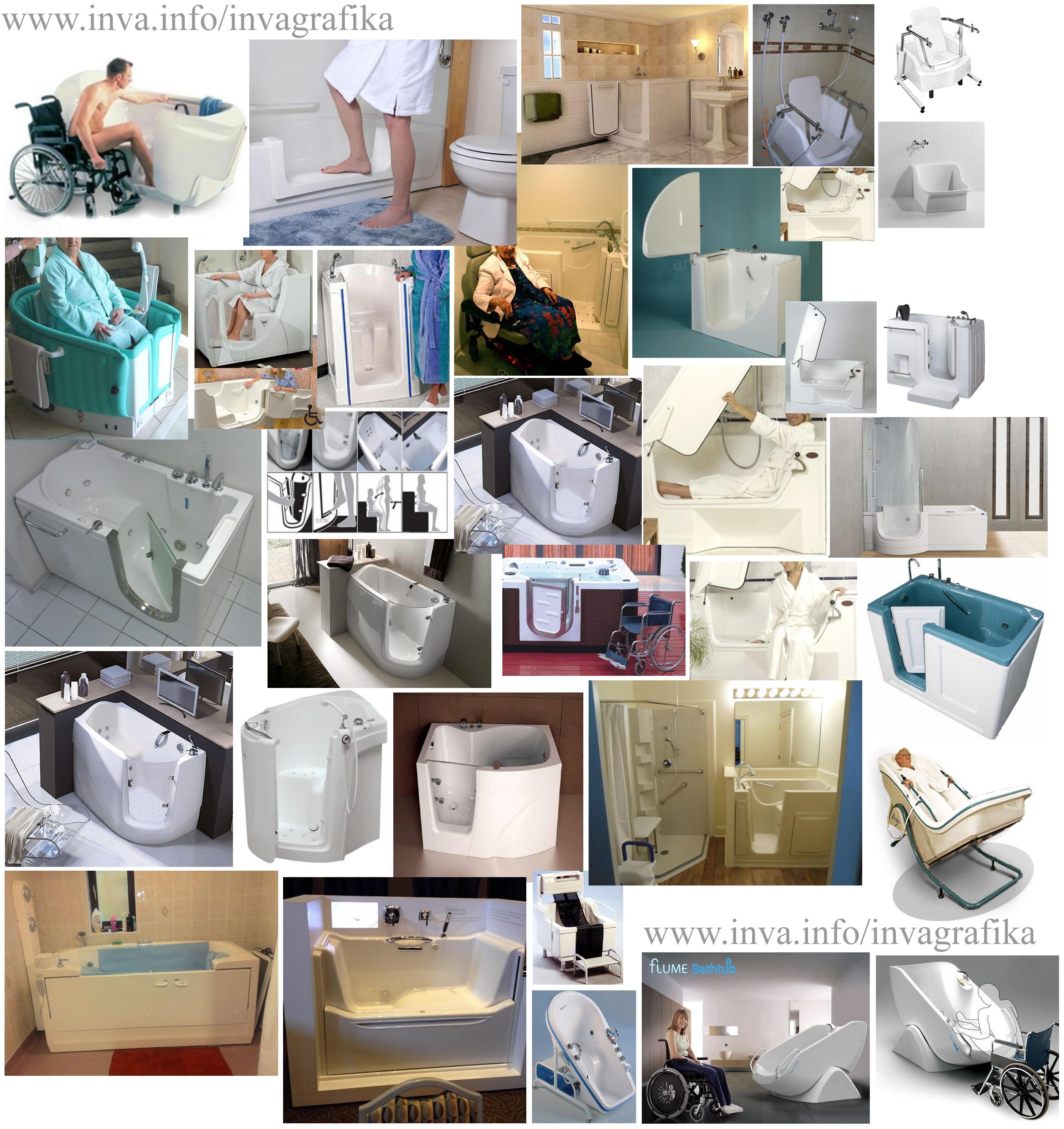 Сидячие ванны для инвалидов