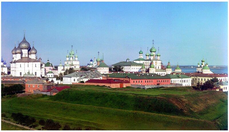 Панорама Ростовского кремля. Прокудин-Горский, 1911 г.
