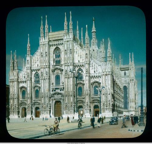 Milan. Cathedral (Duomo): west facade on the Piazza del Duomo