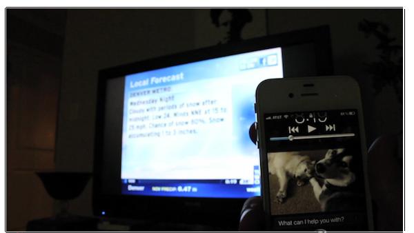 Голосовое управление Siri вместо телевизионного пульта