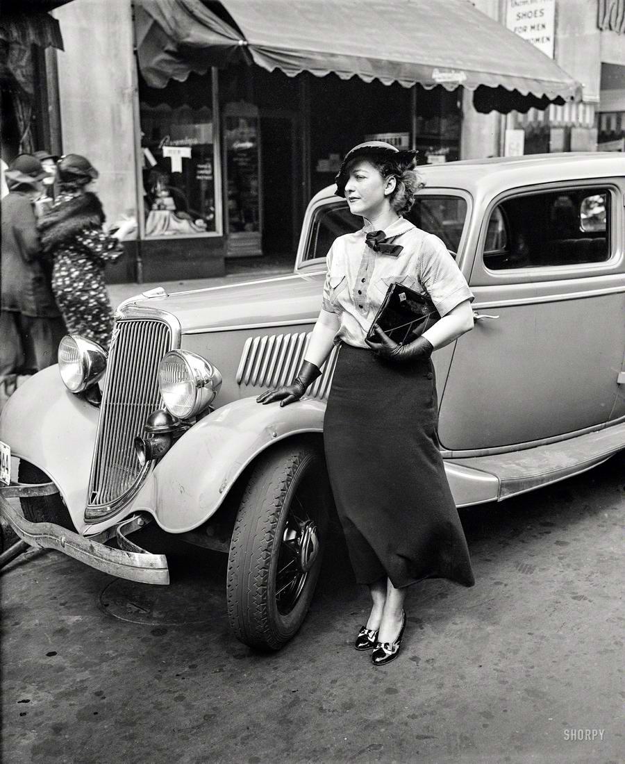 Автомобили и девушки начала 20-го века на снимках американских фотографов (35)