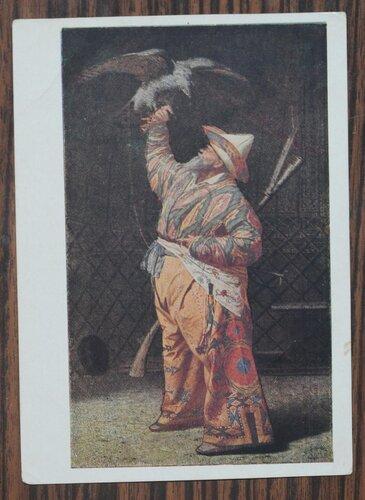 Богатый киргизский охотник с соколом. 1871 г.