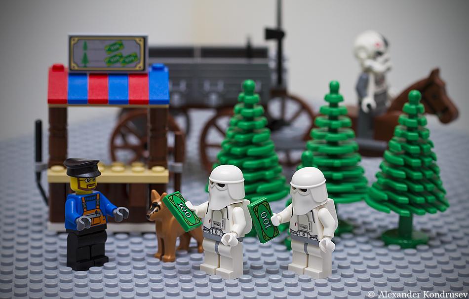 Видео как сделать елку из лего