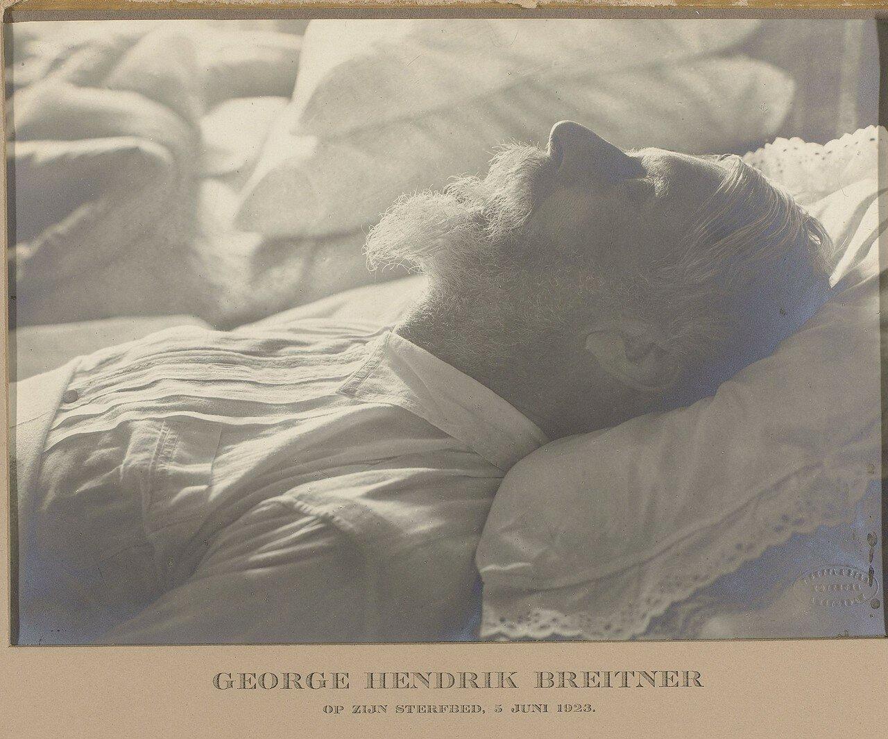 1923. Георг Хендрик Брейтнер на смертном одре.