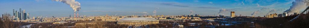 Панорама с Воробьевых гор