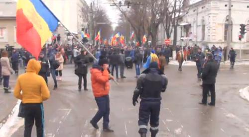 Трансляция 3 дня протестов объединённой оппозиции Молдовы