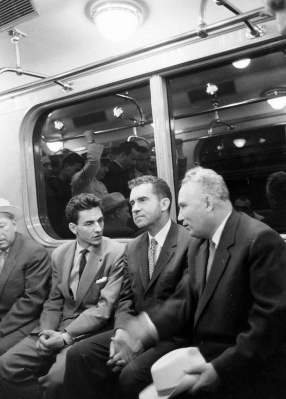Richard Nixon in the subway. USSR, Moscow. June 1959.jpg