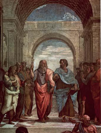 Платон и Аристотель. Фреска Рафаэля