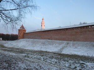 Стены Новгородского Кремля - Новый год в Великом Новгороде