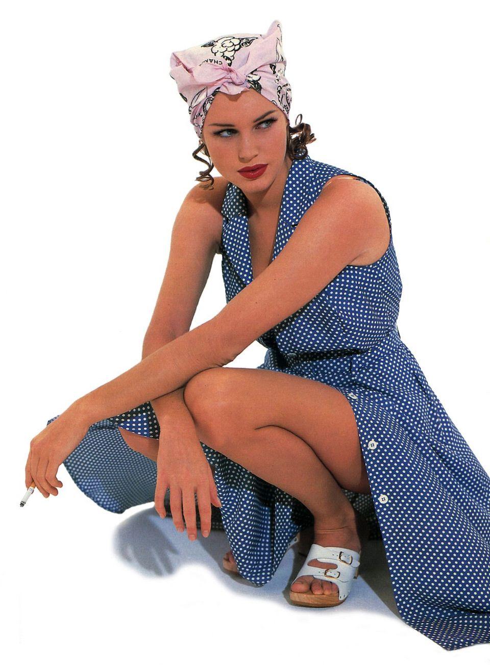1994 год. 22-летняя Ребекка Ромейн на обложке Elle.
