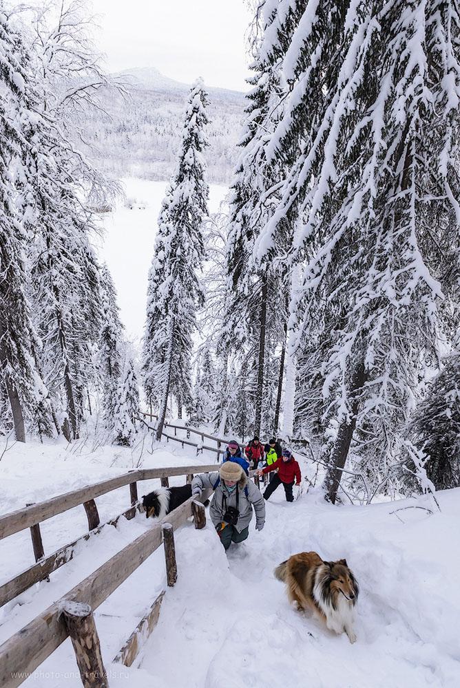 23. Так выглядит подъем на Ветлан по заснеженной лестнице зимой. 1/125, 0.33, 8.0, 1000, 24.