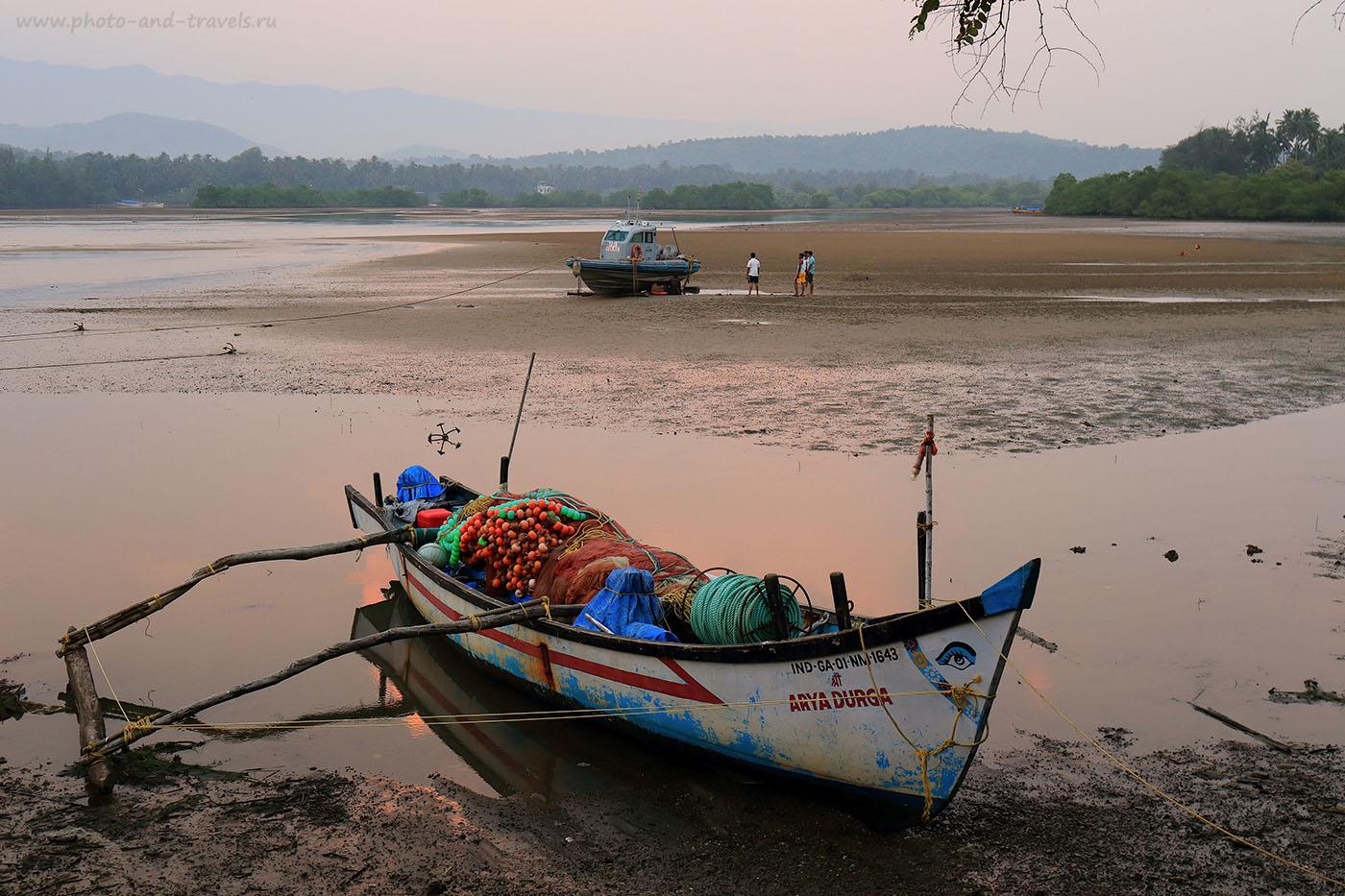 Фото 13. Лодка. Наши приключения на Южном Гоа в Индии. (24 -70, 1/40, 0eV, f9, 44mm, ISO 640)