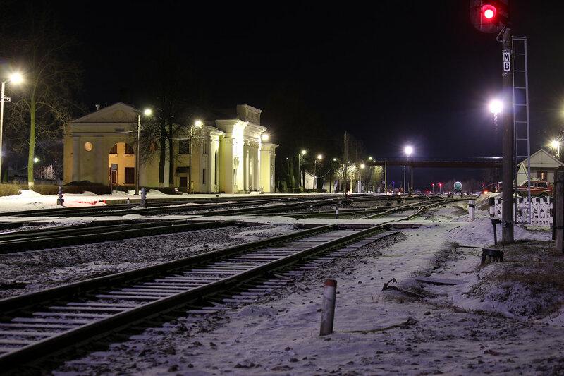 Ночь над станцией Новосокольники