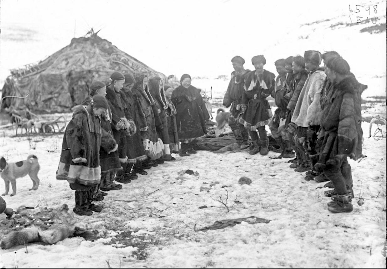 Игры оленных коряков, Сибирь, 1901