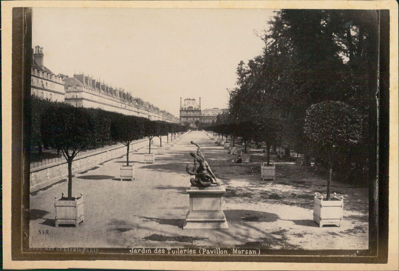 1889. Сад Тюильри (Павильон Марсан)