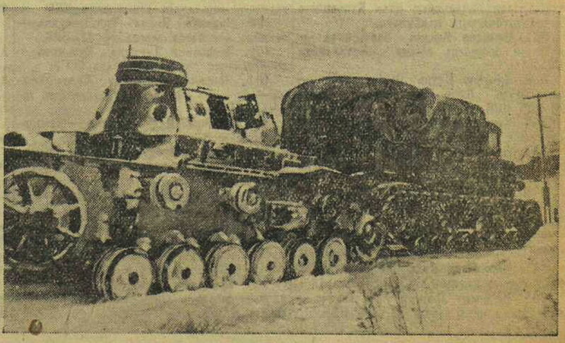 «Известия», 2 декабря 1942 года, битва за Москву, оборона Москвы, немецкие танки, немецкие танки второй мировой