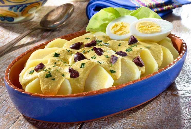 Хуанкаина папас   блюдо из картофеля по перуански