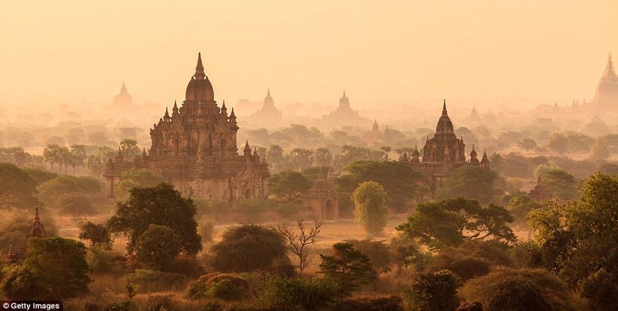 6. Паган, Мьянма. Из-за непростого политического климата внутри страны Мьянма лишь сравнительно неда