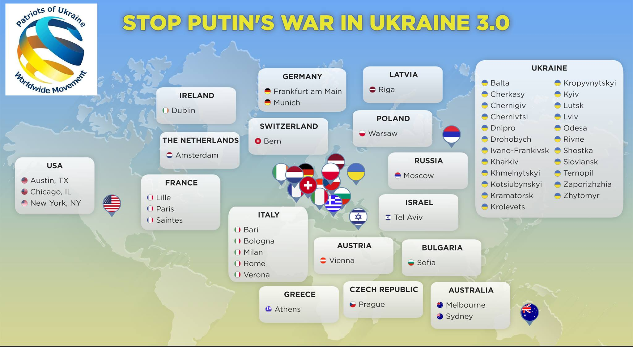 Stop Putin's War in Ukraine 3.0: Киев