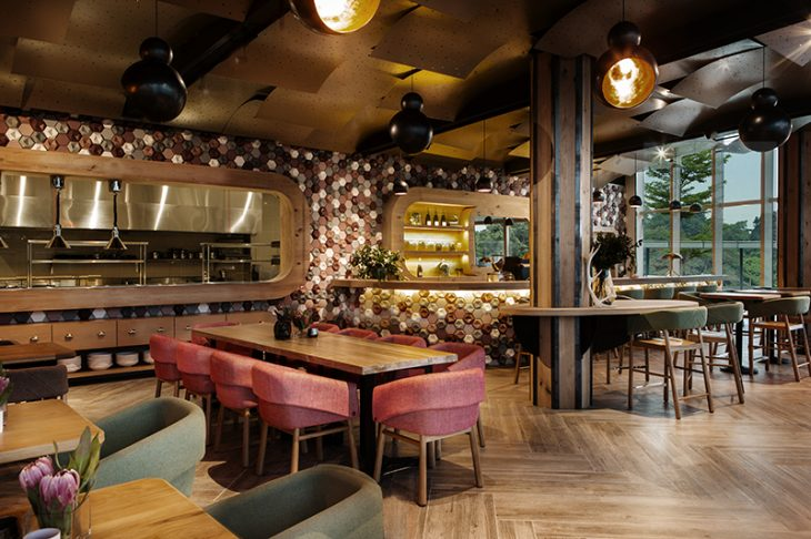 Emma Maxwell Design designed the Cafe Melba in Singapore. The designers used hand crafted 3-dimensio