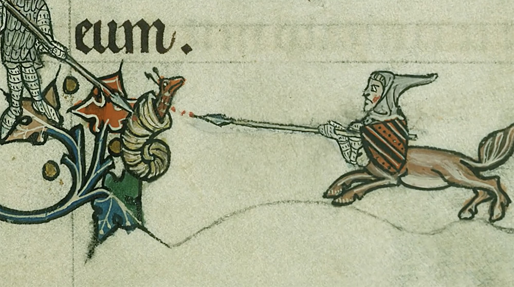 Why Knights Fought Snails in the Margins of Medieval Books