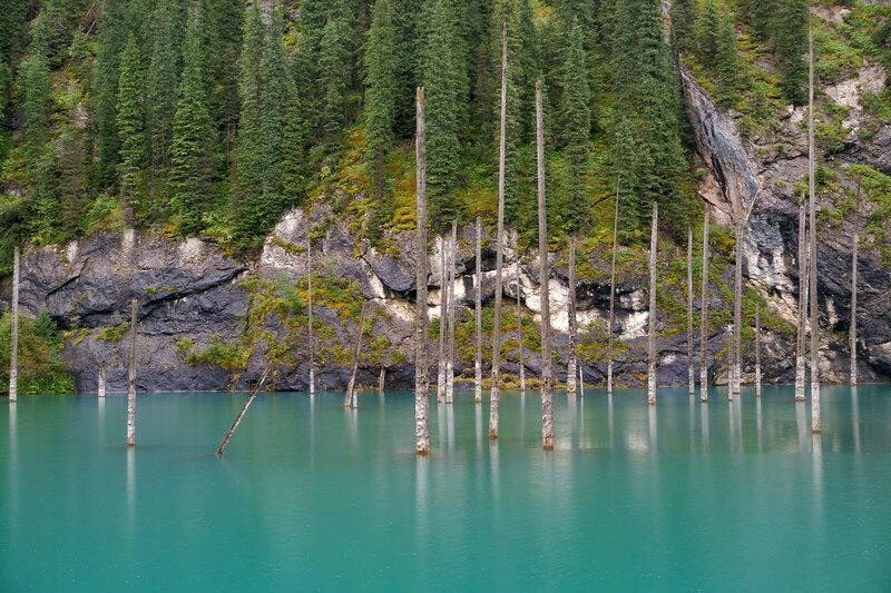 Подводный лес озера Каинды