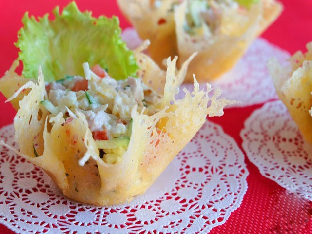 Рецепты салат сырной корзинкой