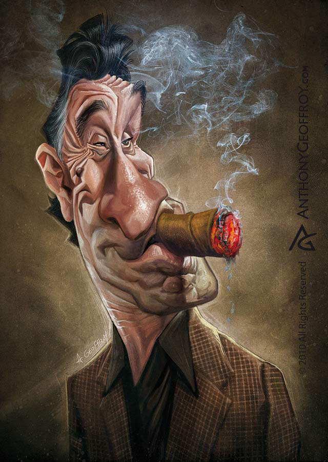 Funny Caricatures by Anthony Geoffroy
