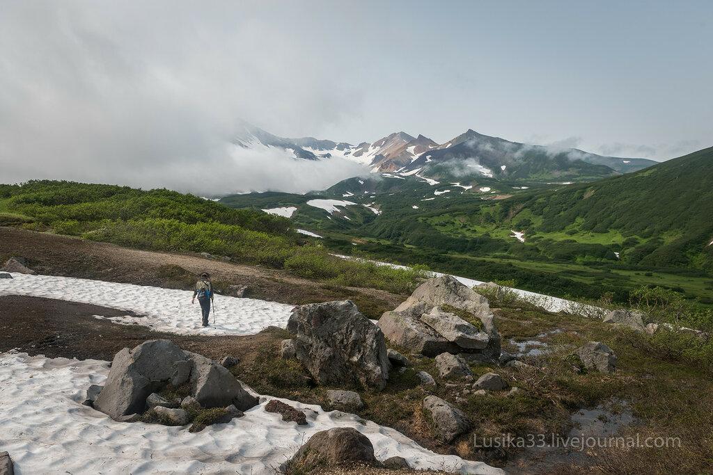 Кошелевский вулкан, Белые водопады