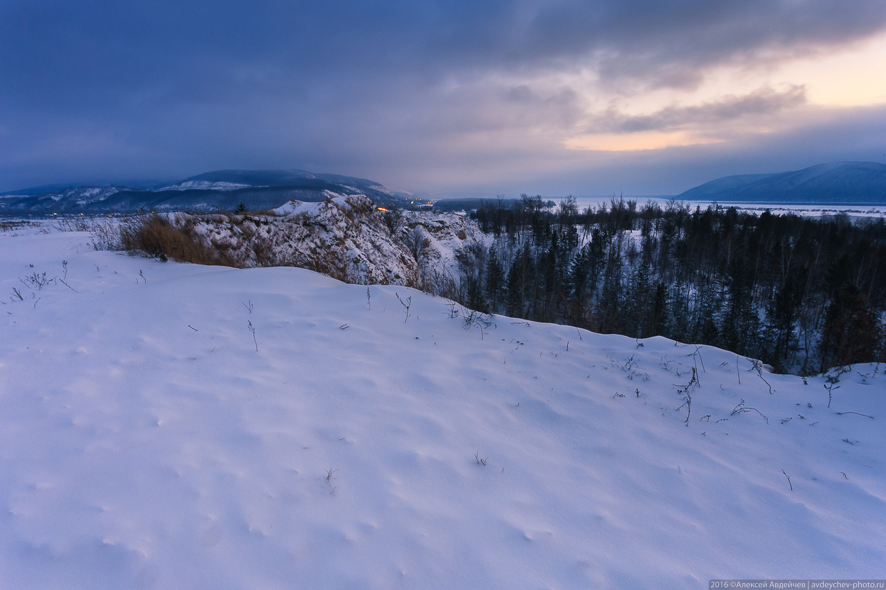 Царёв курган зимой