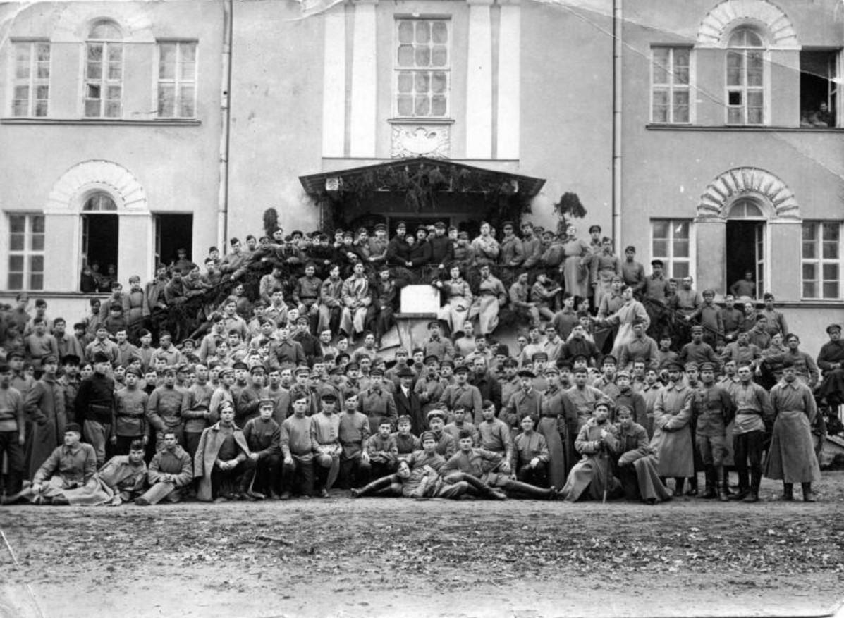 1921. Двухлетие курсов тяжелой артиллерии. Кронштадт