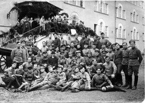 1921. Учащиеся курсов тяжелой артиллерии (1-й и 2-й специальные классы). Кронштадт