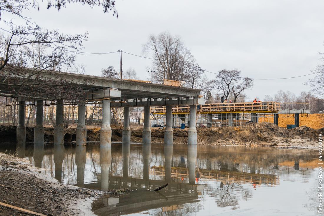 строительство моста в Сарове