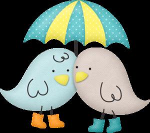 птички под зонтиком