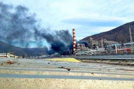 ВТуапсе натерритории нефтезавода сгорела дизельная установка