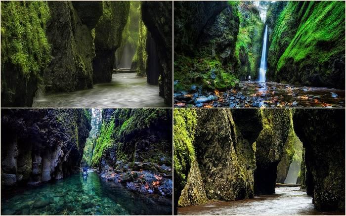 На границе между штатом Орегон и Вашингтон, в ущелье Онеонта есть красивый кусочек древней геологии