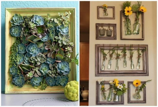 Израмы можно изготовить держатель для вазы или даже самую настоящую живую картину израстений-сукку