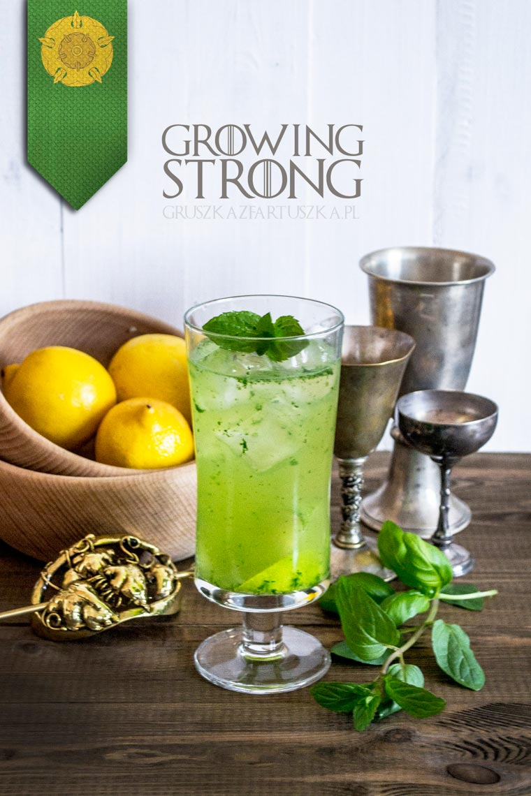 Mint - Basil - 1 tblsp sugar - 50ml lime juice - 80ml gin - Tonic water Images © Gruszka z Fart