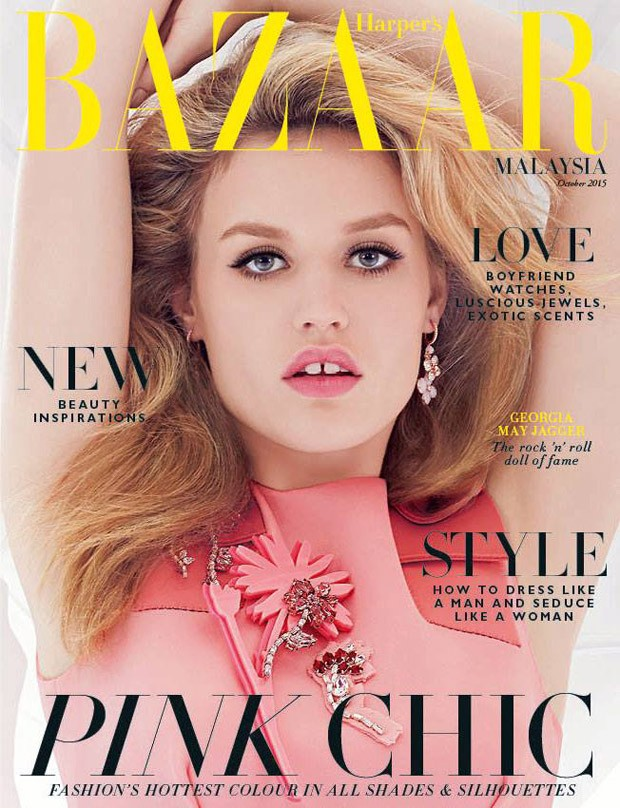 Supermodel Georgia May Jagger takes the cover of Harper's Bazaar Malaysia 's latest edition ca