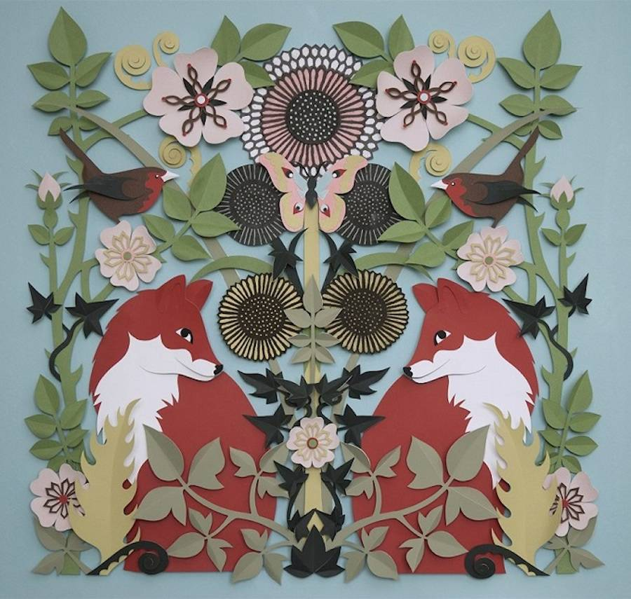Accurate Wildlife Papercut Compositions